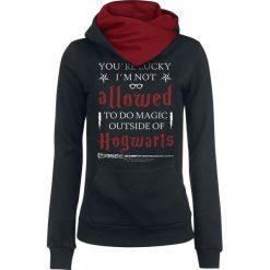 Harry Potter Hogwarts Not Allowed Bluza z kapturem damska czarny/czerwony. Czarne bluzy z kapturem damskie marki Harry Potter, l, z nadrukiem. Za 184,90 zł.