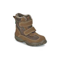 Śniegowce Dziecko Kickers  YEKING. Czerwone buty zimowe chłopięce marki Elefanten, z materiału. Za 207,20 zł.