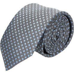 Krawaty męskie: krawat platinum szary classic 215