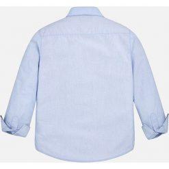 Mayoral - Koszula dziecięca 128-172 cm. Szare koszule męskie na spinki marki Mayoral, z bawełny, z włoskim kołnierzykiem, z długim rękawem. Za 114,90 zł.