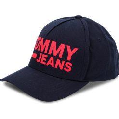 Czapka z daszkiem TOMMY JEANS - Tju Flock Print Cap AU0AU00272 413. Niebieskie czapki z daszkiem damskie Tommy Jeans, z bawełny. Za 179,00 zł.