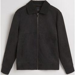 Bluza z kołnierzem - Czarny. Czarne bluzy męskie rozpinane Reserved, l. Za 179,99 zł.