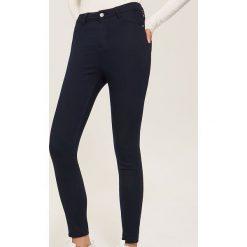 Spodnie high waist - Granatowy. Niebieskie spodnie z wysokim stanem House. Za 59,99 zł.