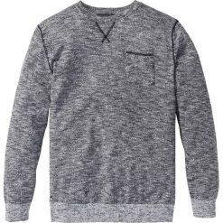 Sweter Regular Fit bonprix czarno-biały melanż. Szare swetry klasyczne męskie bonprix, l, melanż, z kontrastowym kołnierzykiem. Za 74,99 zł.