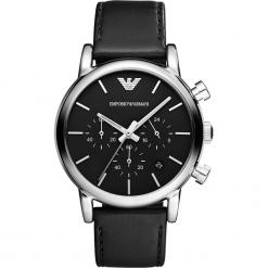 Zegarek EMPORIO ARMANI - Luigi AR1733 Black/Silver/Steel. Szare zegarki męskie marki Emporio Armani, l, z nadrukiem, z bawełny, z okrągłym kołnierzem. Za 1059,00 zł.