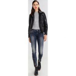 GStar LYNN ZIP GRIP MID SKINNY  Jeans Skinny Fit dark aged. Niebieskie jeansy damskie marki G-Star. W wyprzedaży za 494,25 zł.