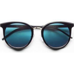 Okulary przeciwsłoneczne bonprix czarny. Czarne okulary przeciwsłoneczne damskie lenonki bonprix. Za 34,99 zł.