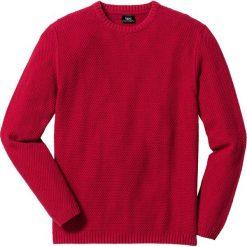 Swetry męskie: Sweter Regular Fit bonprix ciemnoczerwony