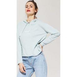 Bluzy damskie: Bluza z kapturem – Zielony