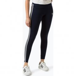 Adidas Originals - Sportowe legginsy damskie, niebieski. Szare legginsy we wzory marki adidas Originals, na co dzień, z bawełny, casualowe, z okrągłym kołnierzem, proste. Za 159,95 zł.