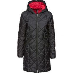 Płaszcz pikowany dwukolorowy bonprix czerwono-czarny. Czerwone płaszcze damskie bonprix. Za 149,99 zł.
