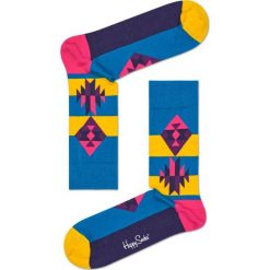 Happy Socks - Skarpety Inca. Niebieskie skarpetki męskie Happy Socks, z bawełny. Za 34,90 zł.