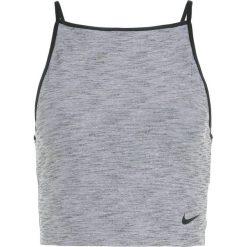 Nike Performance POWER TANK STUDIO Koszulka sportowa black heather/black. Czarne t-shirty damskie Nike Performance, m, z elastanu. Za 139,00 zł.