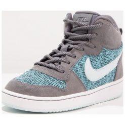 Nike Sportswear COURT BOROUGH MID SE (GS) Tenisówki i Trampki wysokie dark grey/glacier blue/polarized blue. Różowe trampki dziewczęce marki Nike Sportswear, l, z nylonu, z okrągłym kołnierzem. W wyprzedaży za 161,85 zł.