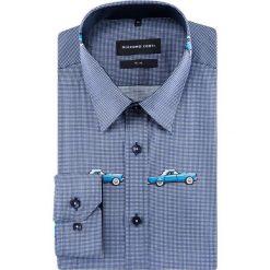 Koszula SIMONE slim KDWS000480. Szare koszule męskie na spinki Giacomo Conti, m, z bawełny, z klasycznym kołnierzykiem. Za 299,00 zł.