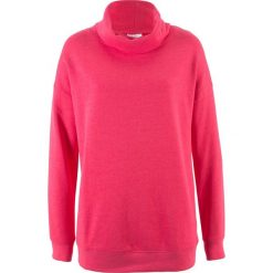 Bluzy damskie: Bluza oversize z golfem bonprix różowy hibiskus