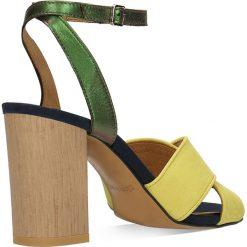 Sandały SUI. Szare sandały damskie na słupku marki Gino Rossi, z gumy. Za 249,90 zł.