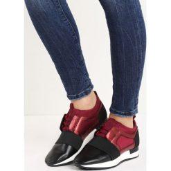 Bordowo-Czarne Buty Sportowe One Word. Czerwone buty sportowe damskie marki KALENJI, z gumy. Za 89,99 zł.