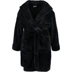 Szlafroki kimona damskie: Evans BLACK ROBE WITH HOOD DETAIL Szlafrok black