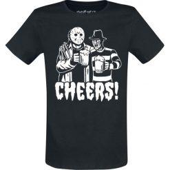 Freddy vs. Jason Cheers! T-Shirt czarny. Czarne t-shirty męskie z nadrukiem Freddy vs. Jason, m, z okrągłym kołnierzem. Za 74,90 zł.