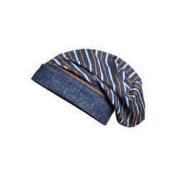Playshoes  Boys Czapka na głowę Beanie Paski - niebieski. Niebieskie czapeczki niemowlęce marki Playshoes, w paski, z elastanu. Za 25,00 zł.