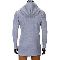 BLUZA MĘSKA ROZPINANA Z KAPTUREM B668 HUGO - SZARA. Szare bluzy męskie rozpinane marki Ombre Clothing, m, z bawełny, z kapturem. Za 99,00 zł.