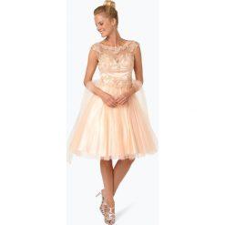 Sukienki: Niente – Elegancka sukienka damska z etolą, pomarańczowy