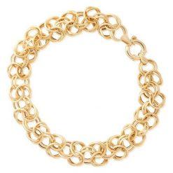 Złota Bransoletka - złoto żółte 375. Żółte bransoletki damskie sznurkowe W.KRUK, złote. Za 1690,00 zł.