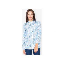 Koszula M504 Wzór 1. Szare koszule wiązane damskie FIGL, m, ze stójką. Za 119,00 zł.