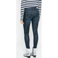 Only - Jeansy. Niebieskie jeansy damskie rurki marki ONLY, z aplikacjami, z bawełny. W wyprzedaży za 89,90 zł.
