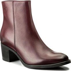 Botki EVA MINGE - Mireia 2G 17GR1372266EF 134. Czerwone buty zimowe damskie Eva Minge, z polaru, na obcasie. W wyprzedaży za 299,00 zł.