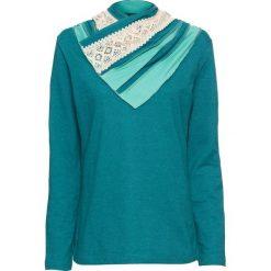 Bluza bonprix kobaltowo-turkusowy melanż. Niebieskie bluzy damskie bonprix, melanż. Za 89,99 zł.