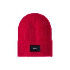 Czapka Beanie Red. Czerwone czapki zimowe damskie Harp Team, z dzianiny, klasyczne. Za 49,00 zł.