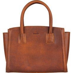 Torebki klasyczne damskie: Skórzana torebka w kolorze brązowym – 30 x 23 x 12 cm