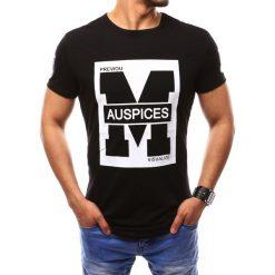 T-shirty męskie z nadrukiem: T-shirt męski z nadrukiem czarny (rx2435)