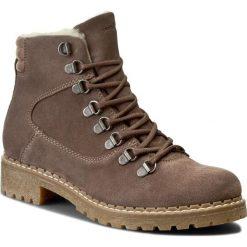 Trapery WOJAS - 5663-64 Beżowy. Czarne buty zimowe damskie marki Wojas, z materiału, z okrągłym noskiem. W wyprzedaży za 259,00 zł.