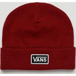 Vans - Czapka. Czerwone czapki zimowe damskie Vans, na zimę, z dzianiny. Za 119,90 zł.
