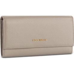 Duży Portfel Damski COCCINELLE - BW5 Metallic Soft E2 BW5 11 03 01 Seashell 143. Czarne portfele damskie marki Coccinelle. W wyprzedaży za 419,00 zł.