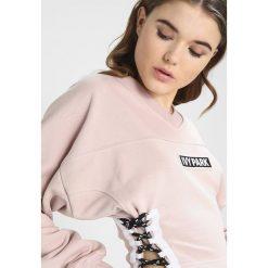 Bluzy rozpinane damskie: Ivy Park LACE UP SIDE LOGO  Bluza shadow grey