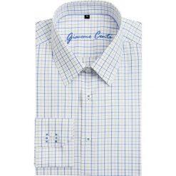 Koszula SIMONE1B KDBS000083. Niebieskie koszule męskie w kratę marki Giacomo Conti, m, z tkaniny, klasyczne. Za 199,00 zł.