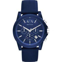 Armani Exchange - Zegarek AX1327. Czarne zegarki męskie marki Armani Exchange, l, z materiału, z kapturem. Za 699,90 zł.