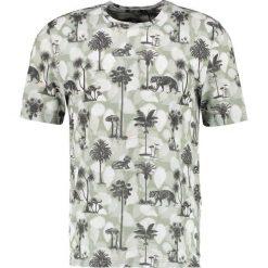 Tiger of Sweden FREDRYK Tshirt z nadrukiem dark white. Brązowe koszulki polo marki Tiger of Sweden, m, z wełny. W wyprzedaży za 230,45 zł.