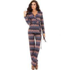 Kardigany damskie: 2-częściowy zestaw w kolorze fioletowym – kardigan, spodnie