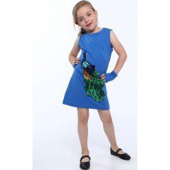Sukienka dziewczęca z cekinową aplikacją chabrowa NDZ8558. Szare sukienki dziewczęce marki Fasardi. Za 49,00 zł.