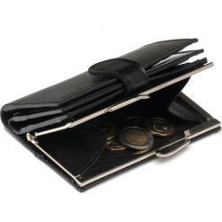 DAMSKI PORTFEL CZARNY. Czarne portfele damskie Felice, z materiału. Za 99,00 zł.