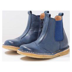 Bisgaard Botki blue. Niebieskie buty zimowe damskie Bisgaard, z materiału. W wyprzedaży za 265,30 zł.