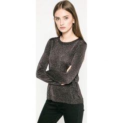 Answear - Sweter. Szare swetry klasyczne damskie marki ANSWEAR, m, z dzianiny, z okrągłym kołnierzem. W wyprzedaży za 69,90 zł.