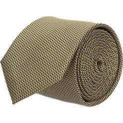Krawaty męskie: krawat platinum złoty classic 200