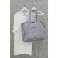 Torba lniana na zakupy - lenoui. Fioletowe shopper bag damskie Pakamera, z nadrukiem, z tkaniny, z nadrukiem. Za 120,00 zł.
