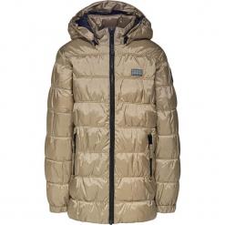 Kurtka zimowa w kolorze beżowym. Brązowe kurtki dziewczęce zimowe marki Reserved, l, z kapturem. W wyprzedaży za 225,95 zł.